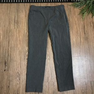 Talbots Petites Charcoal Heather Gray Dres Pants